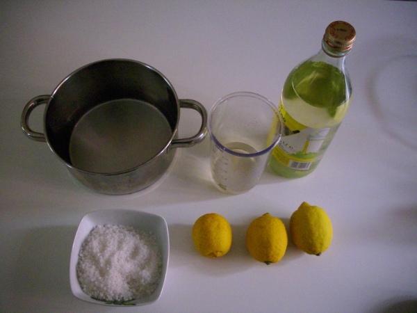 Ingredienti per detersivo