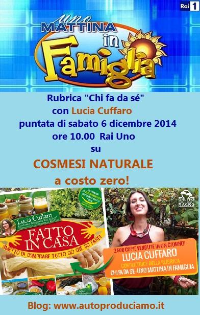 Locandina cosmesi naturale puntata 6 dicembre 2014