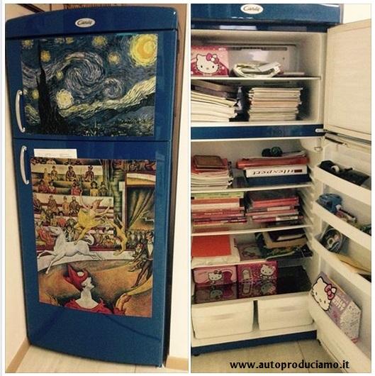 Libreria - Frigorifero riciclato