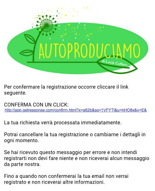 Conferma Iscrizione Newsletter di Lucia Cuffaro