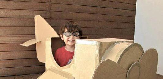 Giochi scatole riciclate