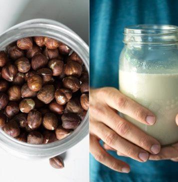 latte nocciole fatto in casa