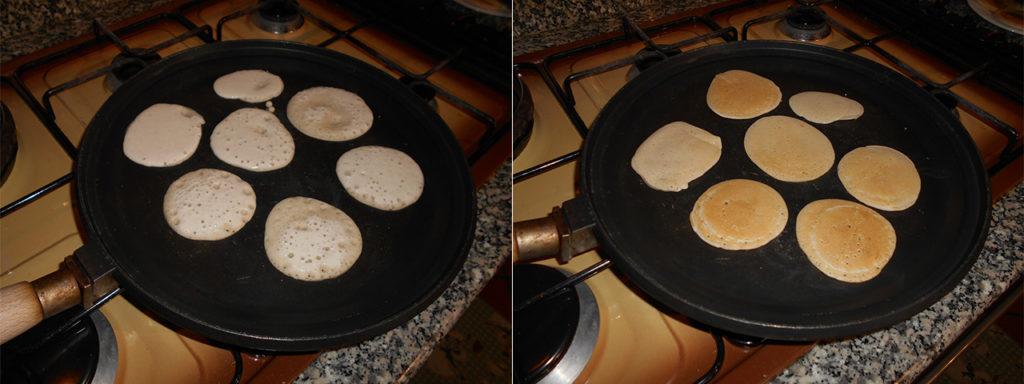 Pancake di pasta madre - Cottura