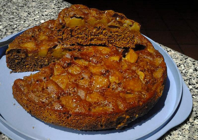 Torta di mele veg - Taglio