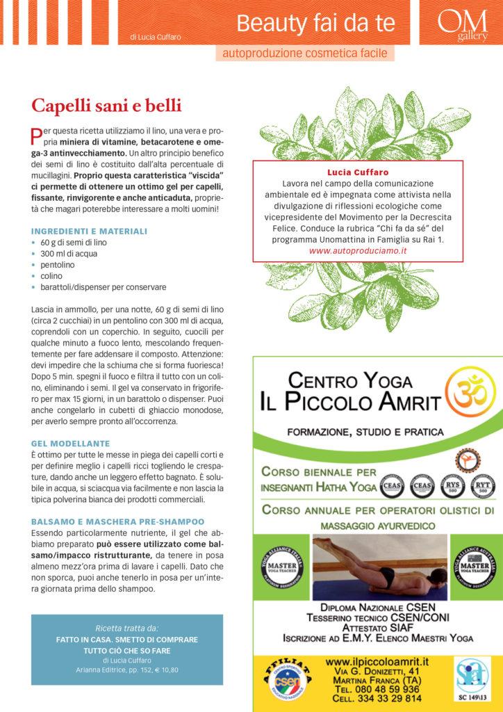 Yoga Journal - Lucia Cuffaro - Marzo 2017
