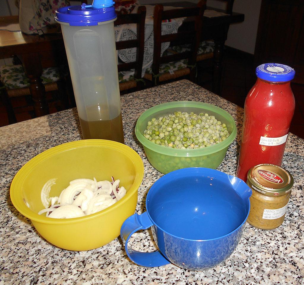 Sugo piselli e cipolla - Ingredienti