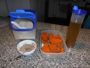 Tagliatelle vegan con la zucca - Ingredienti