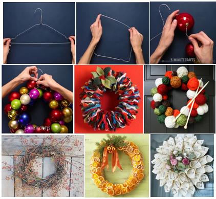 Ghirlande Natale fai da te riciclo