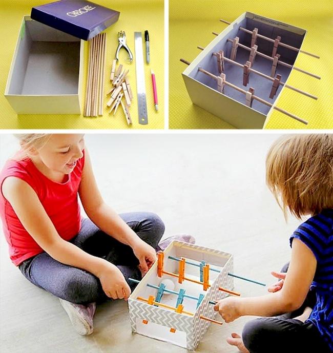 Giochi fai da te per adulti e bambini - Scatola biliardino