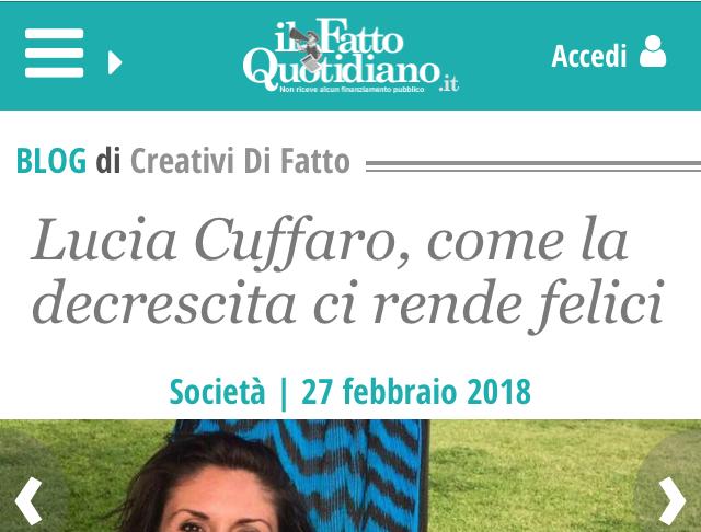 fatto quotidiano Lucia Cuffaro