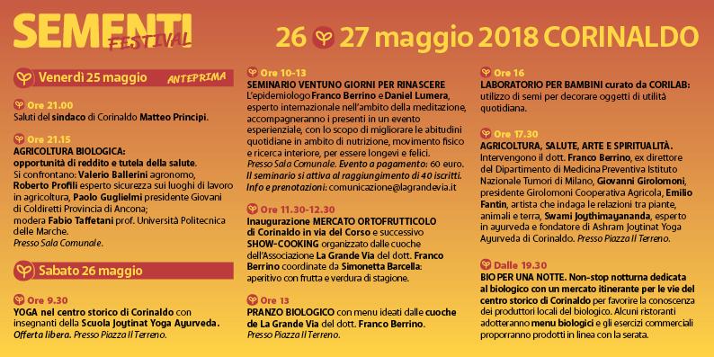 Sementi Festival - 26 e 27 maggio 2018