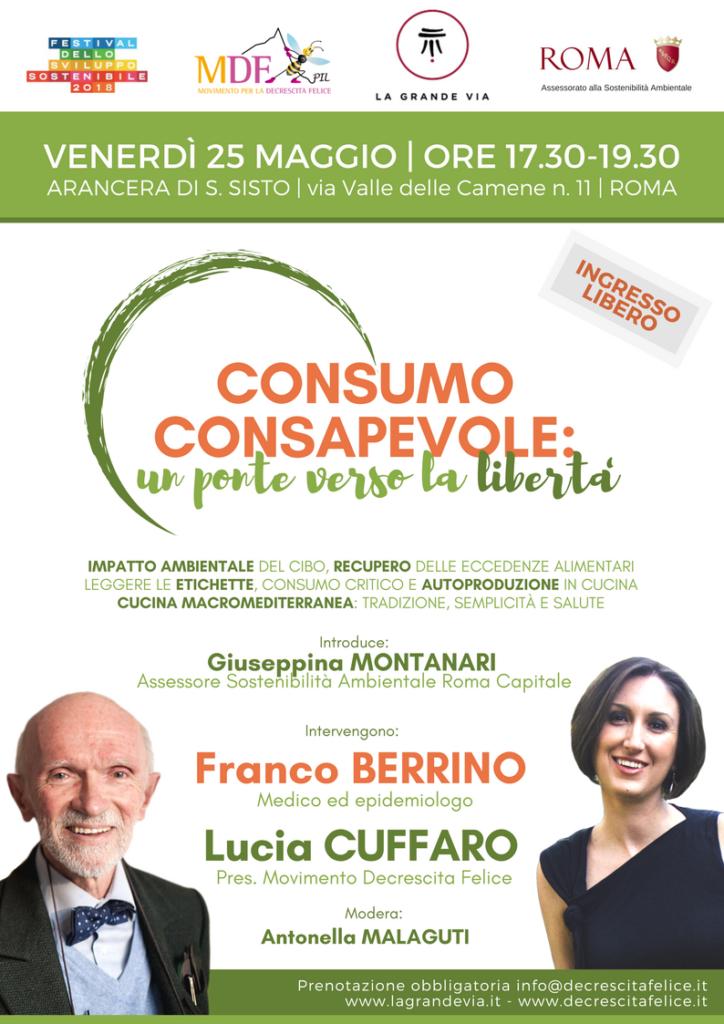 Convegno Consumo Consapevole con Franco Berrino e Lucia Cuffaro