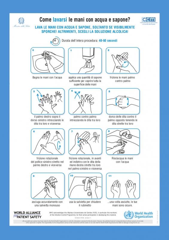 lavarsi igienizzante mani