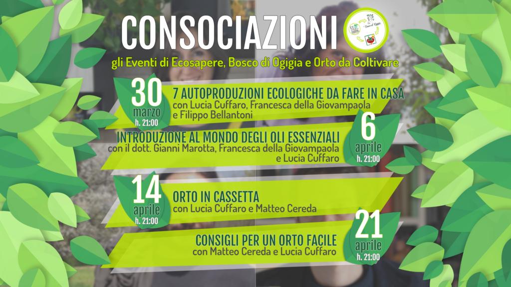 Consociazioni - Eventi - EcoSapere - Bosco di Ogigia - Orto da Coltivare