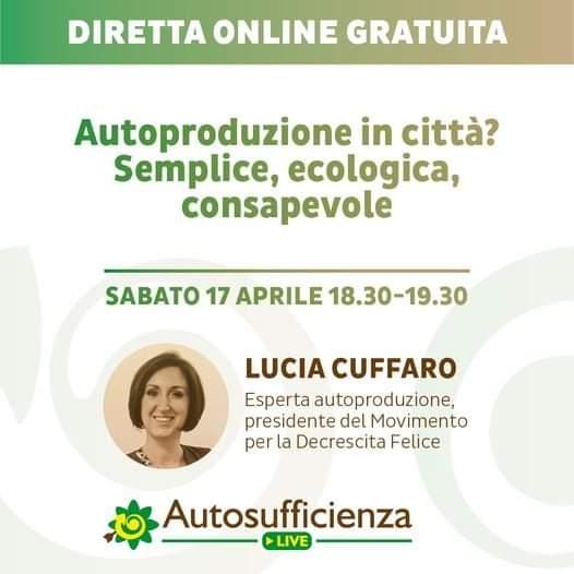Autosufficienza Live - Lucia Cuffaro