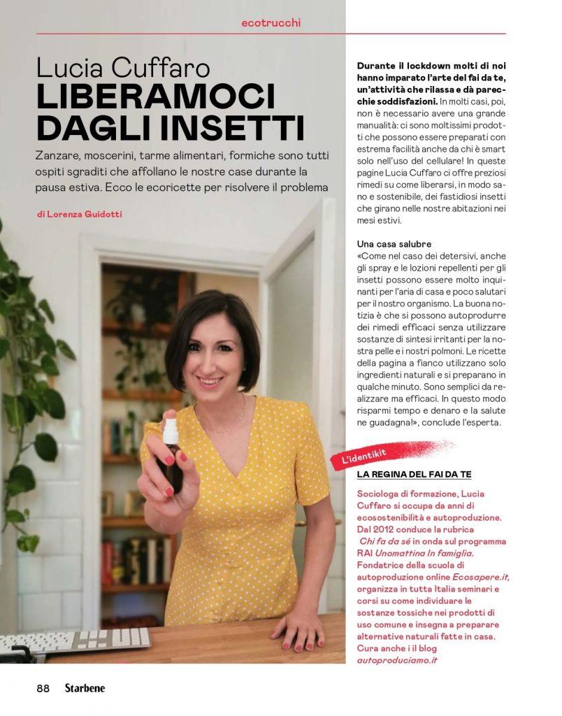 Lucia Cuffaro - Rimedi per allontanare insetti in casa su StarBene