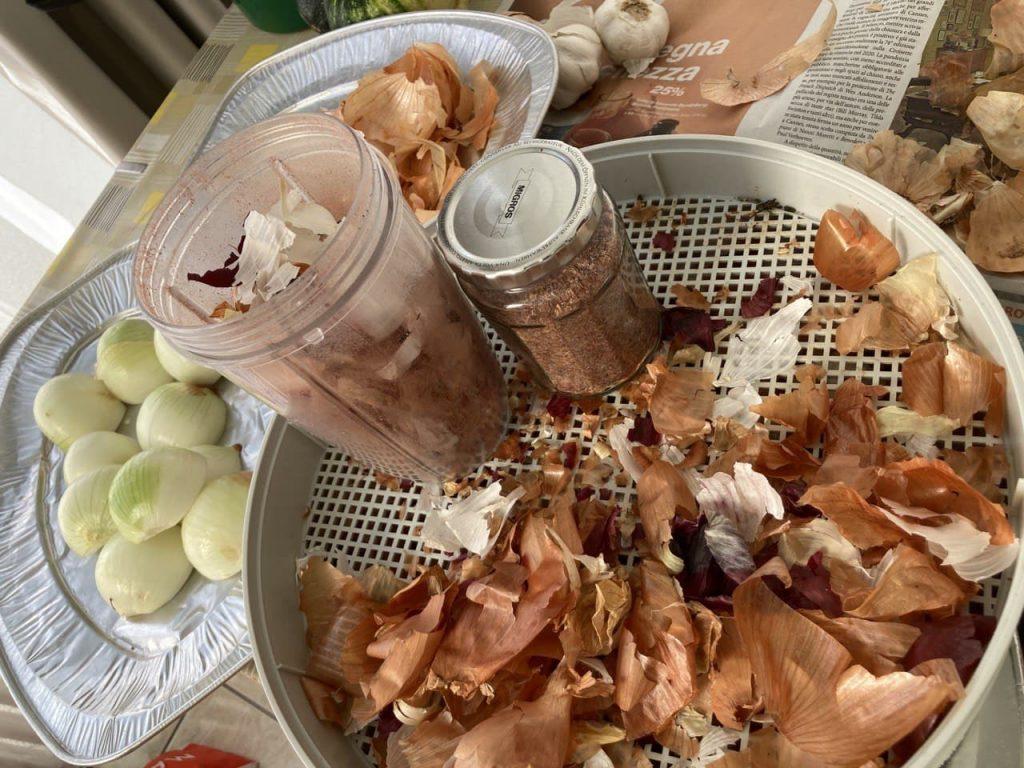 Bucce di cipolle e aglio